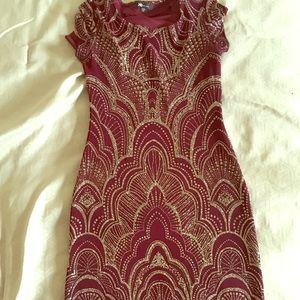 Dresses & Skirts - Maroon bodycon party dress